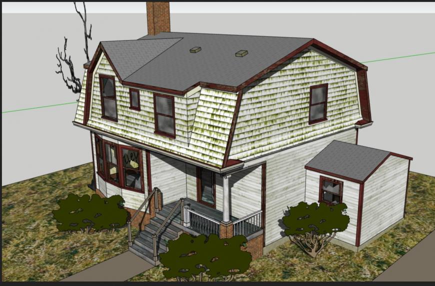 Detroit + House 3 D plan autocad file