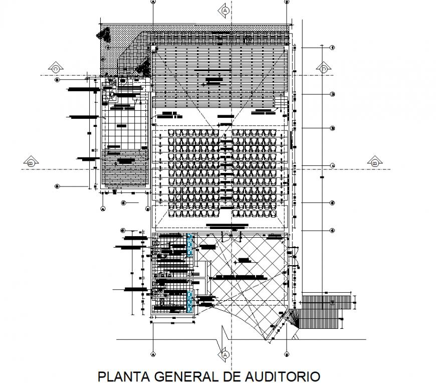 Development auditorium planning detail dwg file