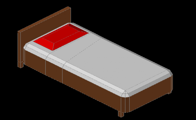 3d Single Bed