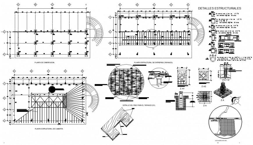Different construction blocks 2d view CAD strctural unit autocad file