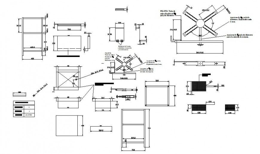 Different furniture units 2d drawing detail in autocad