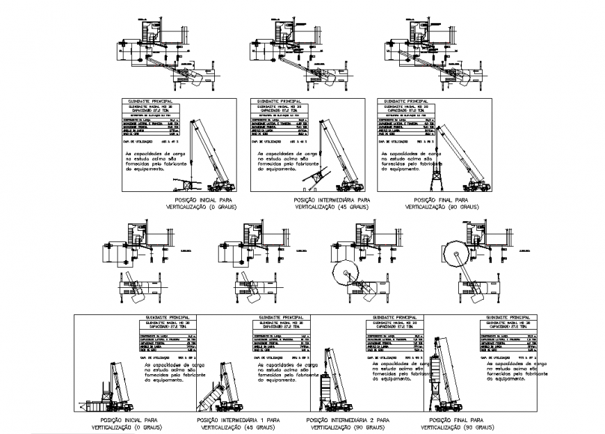 Different loading system for industrial area with architecture drawing and detail dwg file