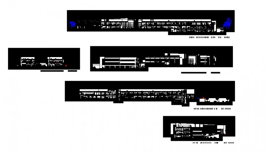 Different section detail of hospital in auto cad file