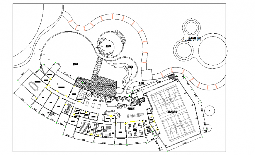 Different type Hotel Lay-out plan detail