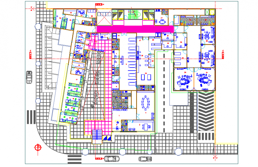 Different type of Hospital Plan Lay-out