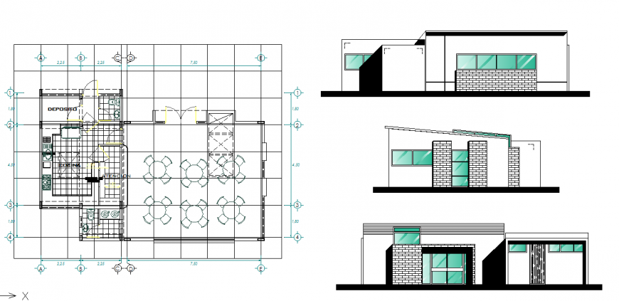 Different Type of House area Detail in DWG File