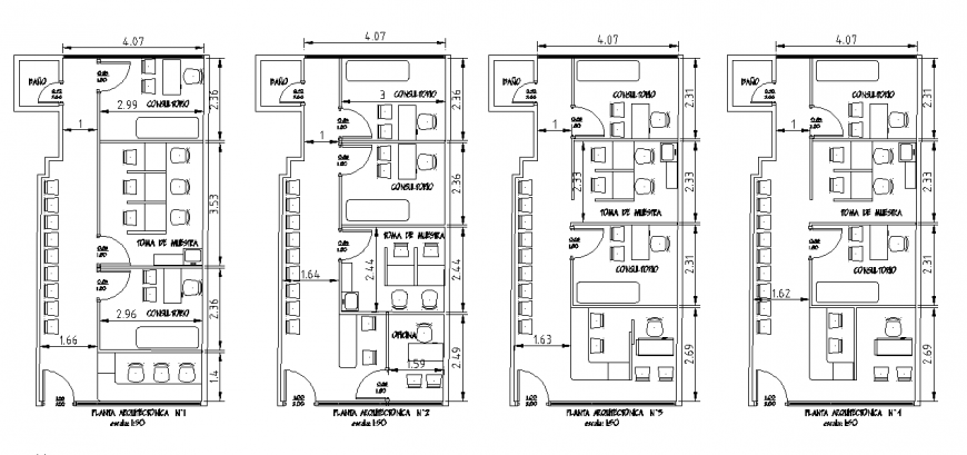 Different type of Office Plan Lay-out
