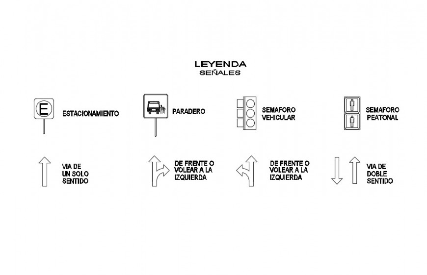 Different type of road safety signs and symbols 2d view layout file in autocad format