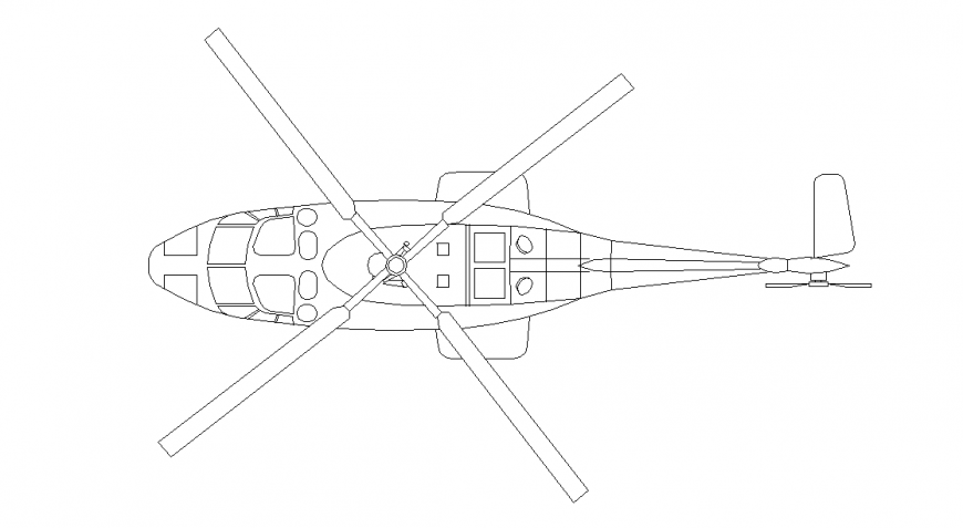 Different Type View of Helicopter Detail