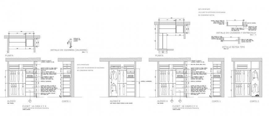 Cabinet Plan Elevation And Section View In Auto Cad Software