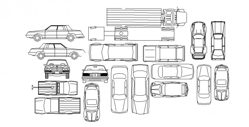 Different vehicle block in AutoCAD software