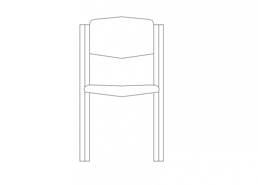 Dining chair detail elevation 2d view layout autocad file