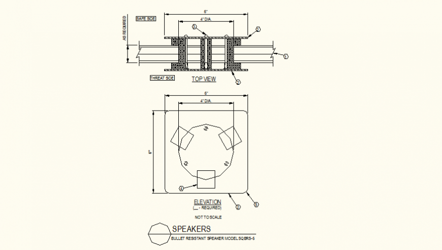 Dip trays detail plan and section layout file