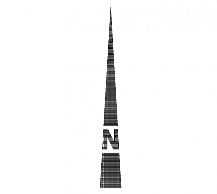 Direction logo of north direction design dwg file