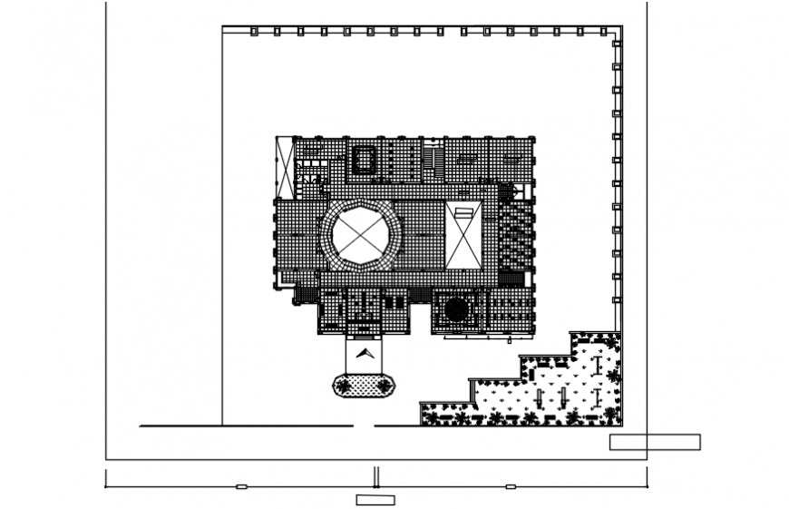 Distribution and cover plan drawing details of foundation office dwg file
