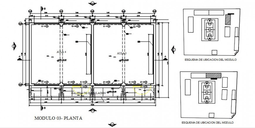 Distribution plan and site plan drawing details of college building dwg file