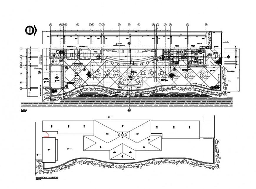 Distribution plan details of classic restaurant cad drawing details dwg file