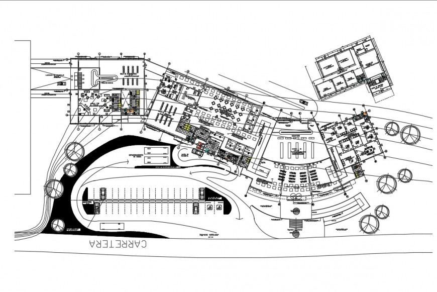 Distribution plan details of international airport cad drawing details dwg file