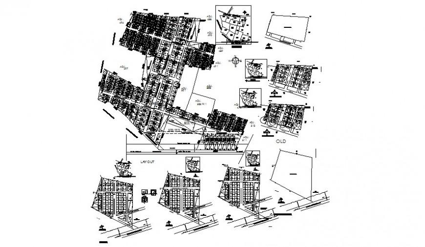 Division details of area topographic units autocad file