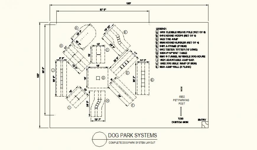 Dog park detail plan layout file