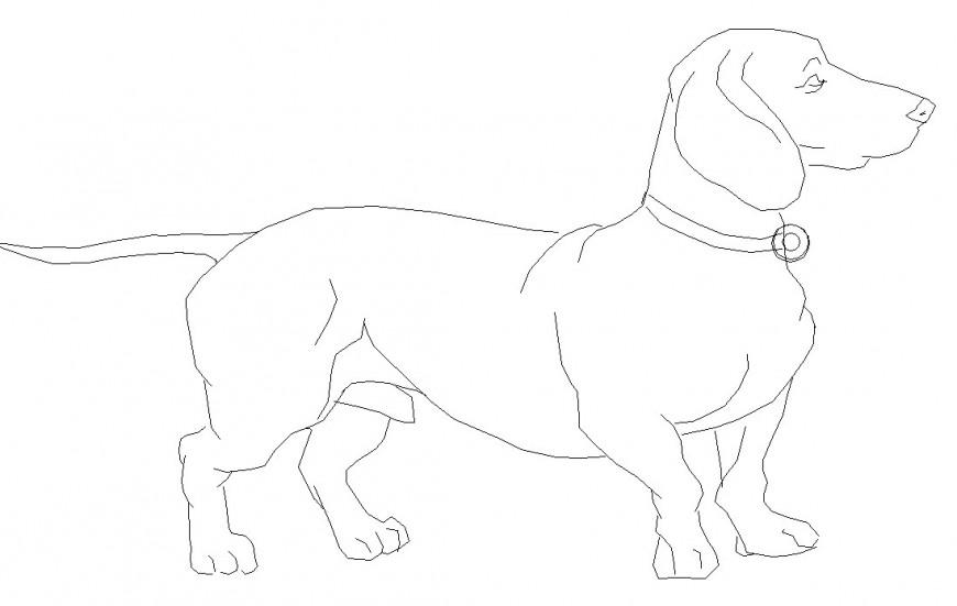 Dog side elevation file detail