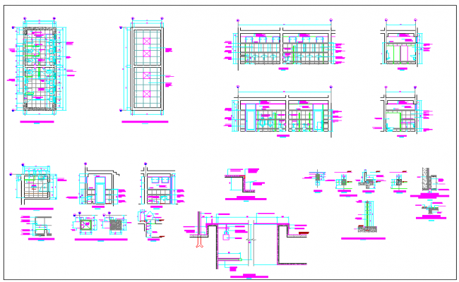 door elevation view dwg file