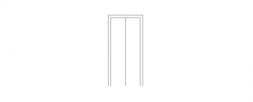 Door 2d elevation block cad drawing details dwg file