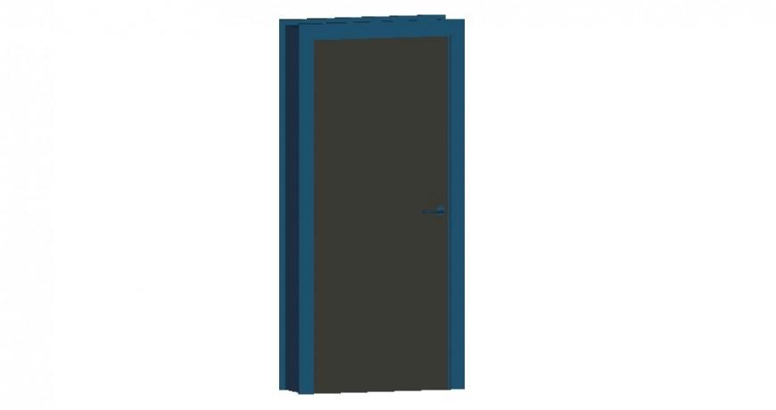 Door 3d view in AutoCAD file