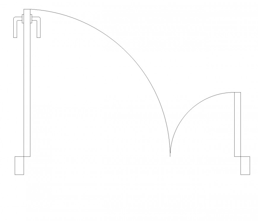 Door and a half plan view dwg file