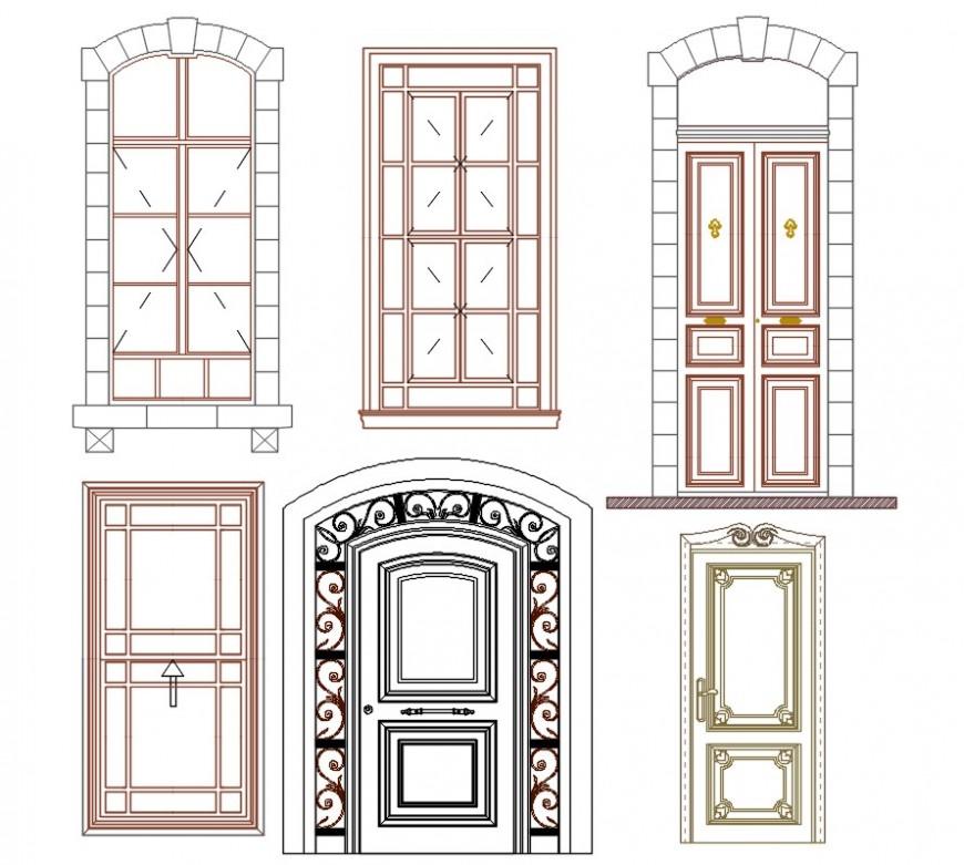 door and window drawing cad blocks