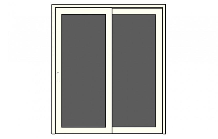 Door block design detail 2d drawing sketch-up file