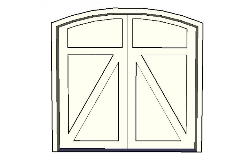 Door block design detail sketch-up file