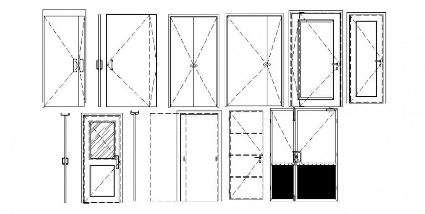 Door block different design in AutoCAD file