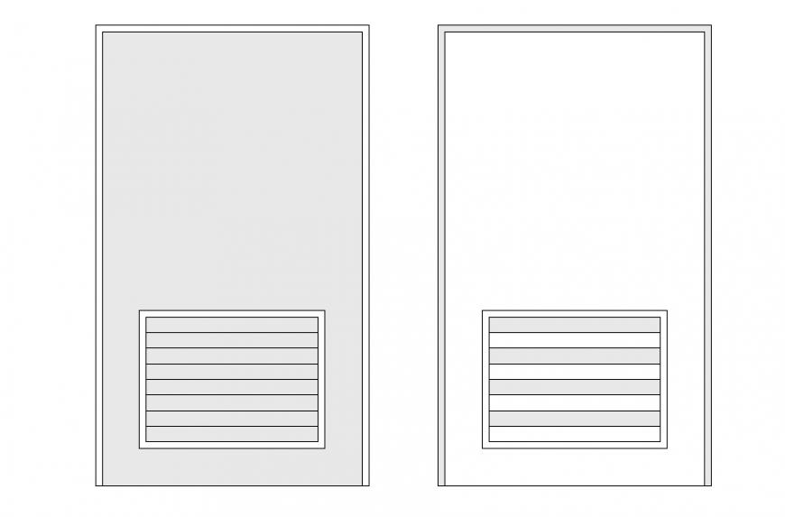 Door Block Elevation Design