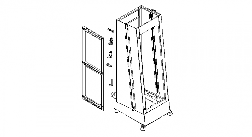 Door blocks and other mechanical units details in autocad file