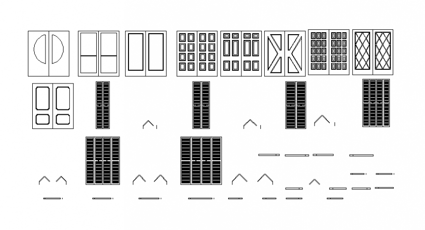 Door cad blocks model