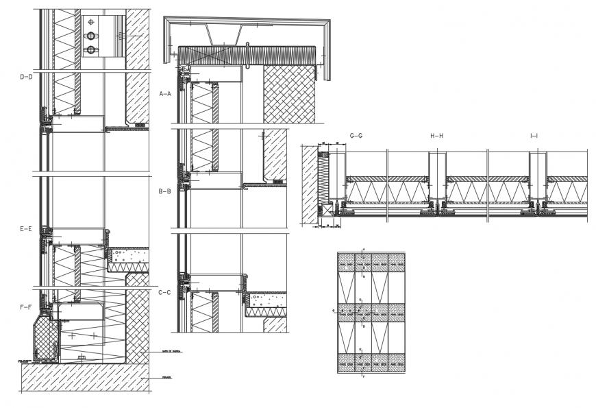 Door coupling and door installation cad drawing details dwg file