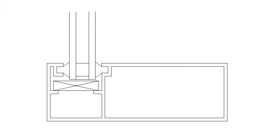 Door coupling auto-cad drawing details dwg file