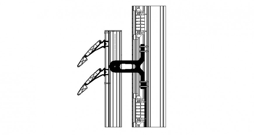 2d cad drawing of frame door and window detail autocad