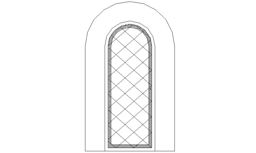Door design with its elevation with design dwg file
