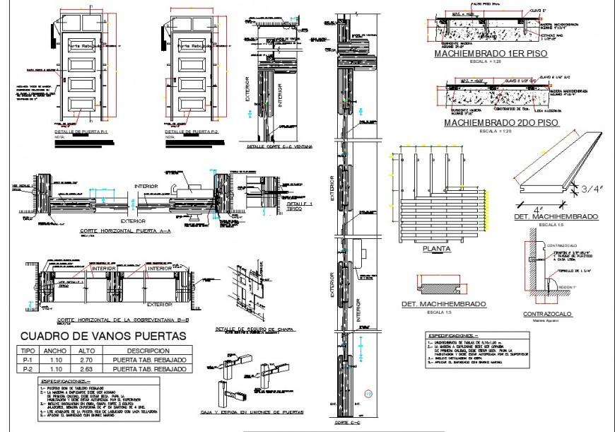 Door detail 2d view CAD block layout autocad file