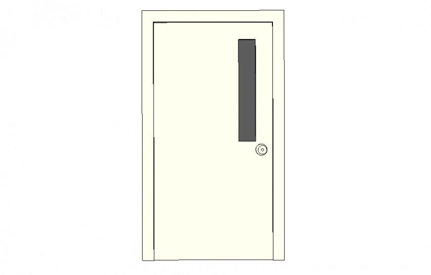 Door elevation 2d drawing in sketch-up software