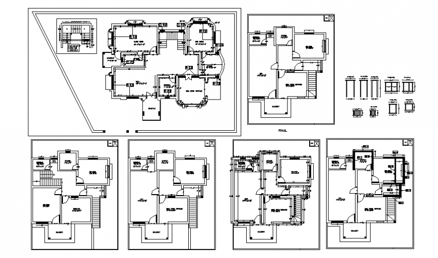 Door elevation and house plan layout file