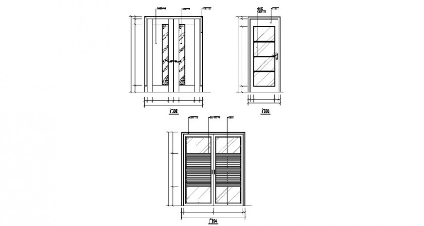 Door elevation cad dwg file