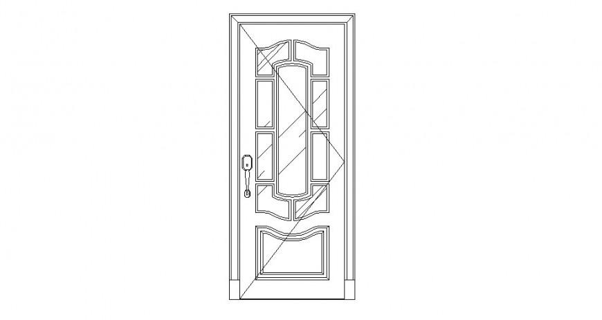 Door elevation design detail