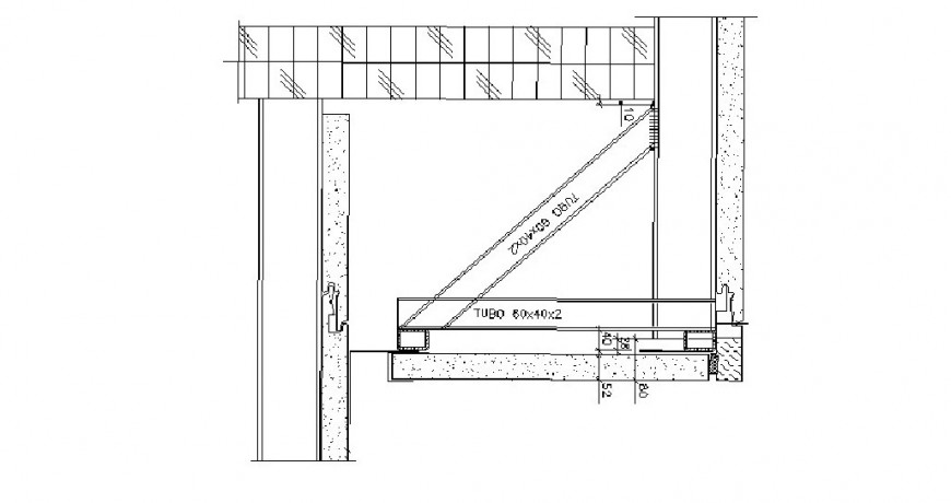 Door frame and coupling structure cad drawing details dwg file