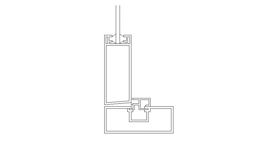 Door frame coupling drawing details dwg file