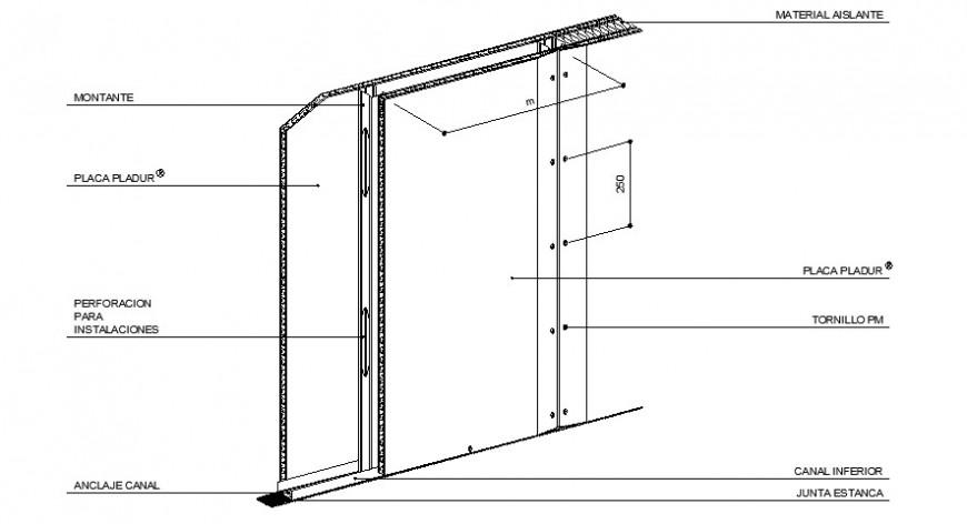Door framing details drawings 2d view dwg file