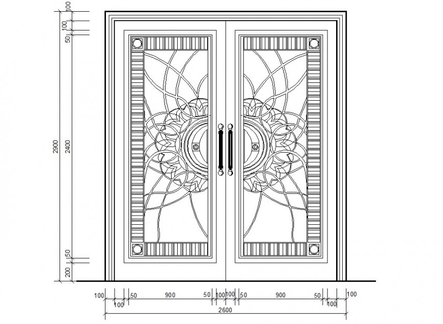 Door front elevation 2d