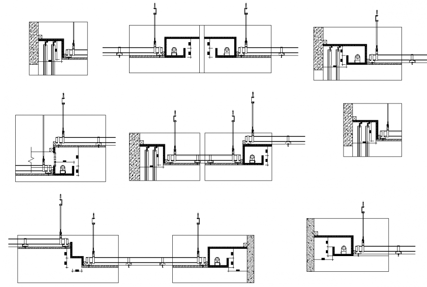 Door section plan autocad file